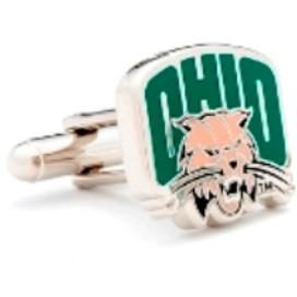 Ohio University Bobcats Enamel Cufflinks-Cufflinks-Cufflinks, Inc.-Top Notch Gift Shop
