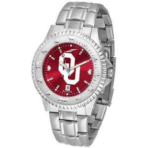 Oklahoma Sooners Competitor AnoChrome - Steel Band Watch-Watch-Suntime-Top Notch Gift Shop