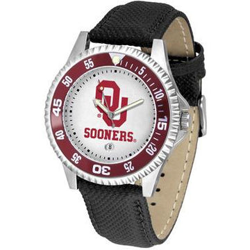 Oklahoma Sooners Competitor - Poly/Leather Band Watch