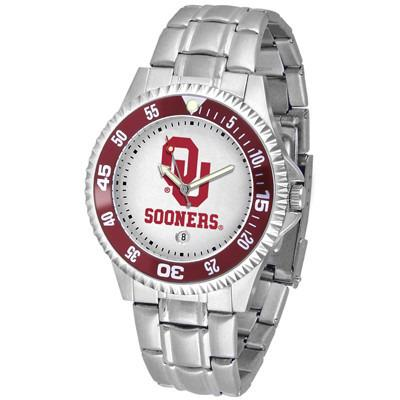 Oklahoma Sooners Competitor - Steel Band Watch-Watch-Suntime-Top Notch Gift Shop