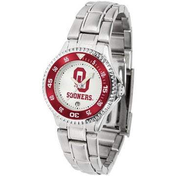 Oklahoma Sooners Ladies Competitor Steel Band Watch