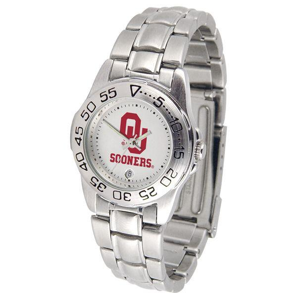 Oklahoma Sooners Ladies Steel Band Sports Watch-Watch-Suntime-Top Notch Gift Shop