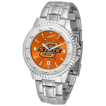 Oklahoma State Cowboys Competitor AnoChrome - Steel Band Watch
