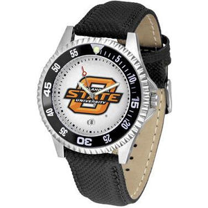 Oklahoma State Cowboys Competitor - Poly/Leather Band Watch-Watch-Suntime-Top Notch Gift Shop