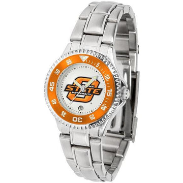 Oklahoma State Cowboys Ladies Competitor Steel Band Watch