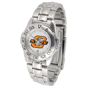 Oklahoma State Cowboys Ladies Steel Band Sports Watch-Watch-Suntime-Top Notch Gift Shop