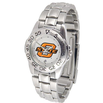 Oklahoma State Cowboys Ladies Steel Band Sports Watch