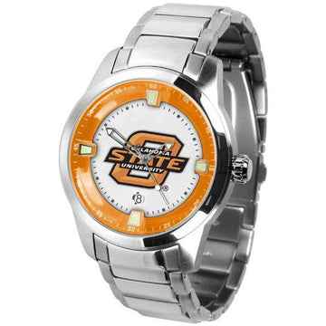 Oklahoma State Cowboys Men's Titan Stainless Steel Band Watch