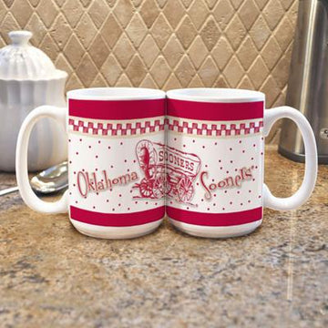 "Oklahoma University ""Gameday"" Mug -  (Set of 2)"