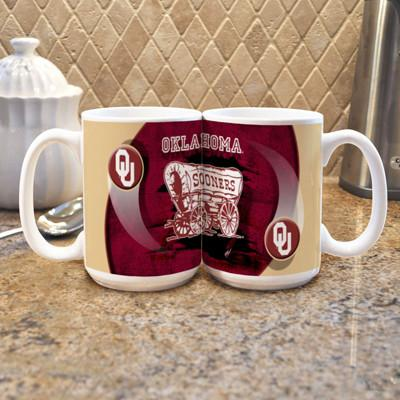 "Oklahoma University ""Mascot"" Mug - (Set of 2)-Mug-Memory Company-Top Notch Gift Shop"