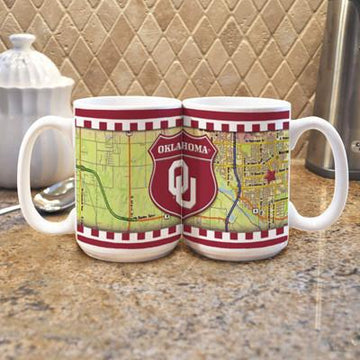 "Oklahoma University ""Road To"" Mug -  (Set of 2)"