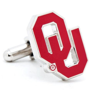 Oklahoma University Sooners Enamel Cufflinks-Cufflinks-Cufflinks, Inc.-Top Notch Gift Shop