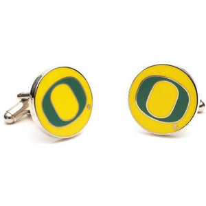 Oregon Ducks Enamel Cufflinks-Cufflinks-Cufflinks, Inc.-Top Notch Gift Shop