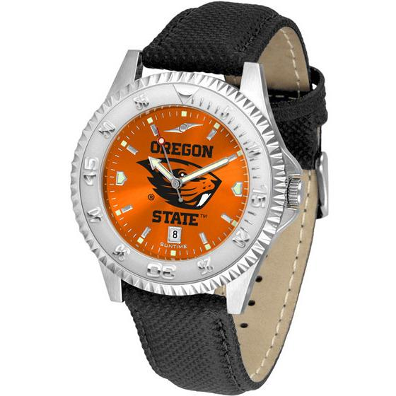 Oregon State Beavers Competitor AnoChrome - Poly/Leather Band Watch-Watch-Suntime-Top Notch Gift Shop