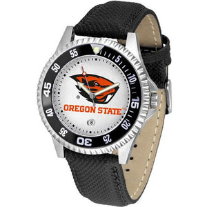 Oregon State Beavers Competitor - Poly/Leather Band Watch-Watch-Suntime-Top Notch Gift Shop