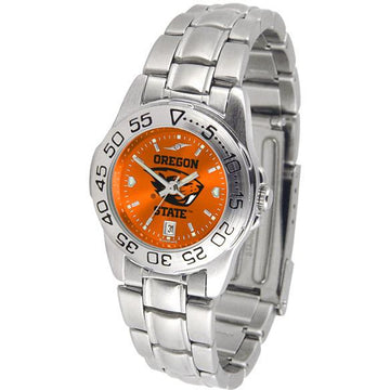 Oregon State Beavers Ladies AnoChrome  Steel Band Sports Watch