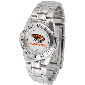 Oregon State Beavers Ladies Steel Band Sports Watch