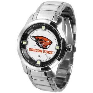 Oregon State Beavers Men's Titan Stainless Steel Band Watch-Watch-Suntime-Top Notch Gift Shop