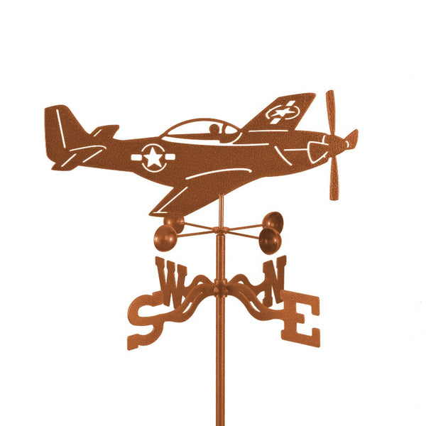 P51 Mustang Weathervane-Weathervane-EZ Vane-Top Notch Gift Shop