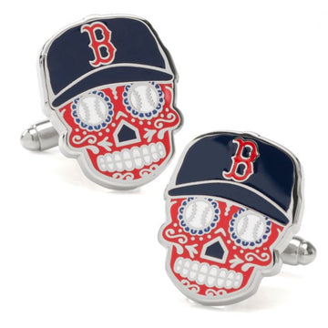 Boston Red Sox Sugar Skull Cufflinks