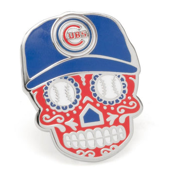 Chicago Cubs Sugar Skull Lapel Pin