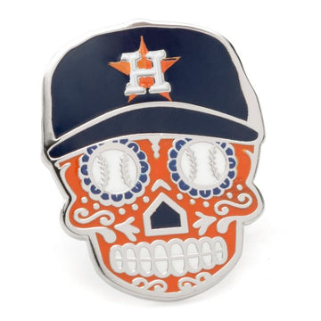 Houston Astros Sugar Skull Lapel Pin