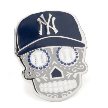 New York Yankees Sugar Skull Lapel Pin