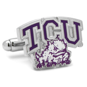 TCU Horned Frogs Enamel Cufflinks-Cufflinks-Cufflinks, Inc.-Top Notch Gift Shop