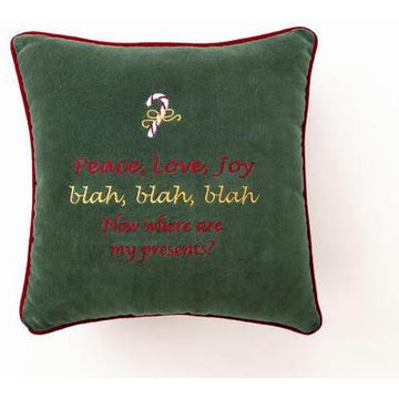 Peace, Love, Joy Christmas Pillow