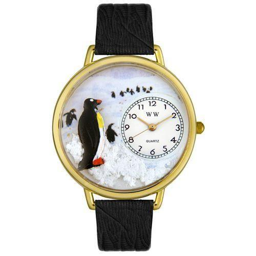 Penguin Watch in Gold (Large)-Watch-Whimsical Gifts-Top Notch Gift Shop