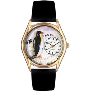 Penguin Watch Small Gold Style-Watch-Whimsical Gifts-Top Notch Gift Shop
