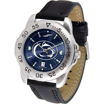Penn State Nittany Lions Mens AnoChrome Leather Band Sports Watch