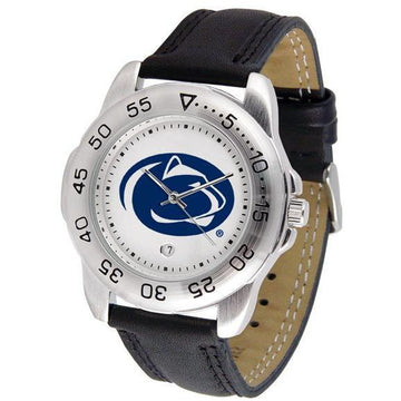 Penn State Nittany Lions Mens Leather Band Sports Watch