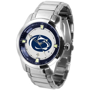 Penn State Nittany Lions Men's Titan Stainless Steel Band Watch-Watch-Suntime-Top Notch Gift Shop