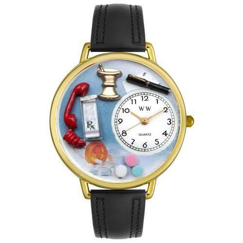 Pharmacist Watch in Gold (Large)-Watch-Whimsical Gifts-Top Notch Gift Shop