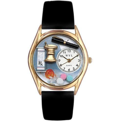 Pharmacist Watch Small Gold Style-Watch-Whimsical Gifts-Top Notch Gift Shop