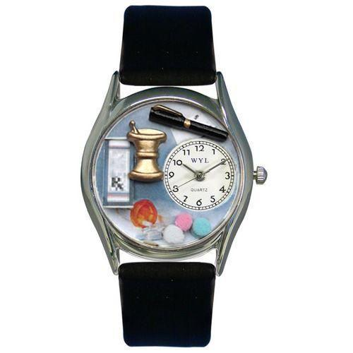 Pharmacist Watch Small Silver Style-Whimsical GiftsTop Notch Gift Shop