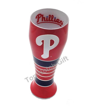 Philadelphia Phillies Artisan Hand Painted Pilsner Glass
