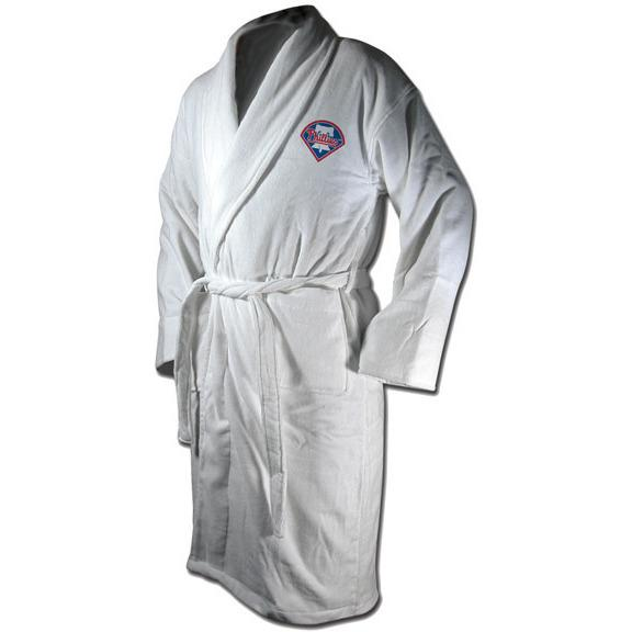 Philadelphia Phillies Terrycloth Logo Bathrobe - White-Wincraft-Top Notch Gift Shop