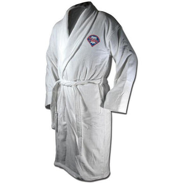 Philadelphia Phillies Terrycloth Logo Bathrobe - White
