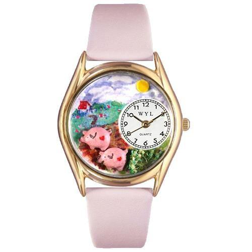 Pigs Watch Small Gold Style-Watch-Whimsical Gifts-Top Notch Gift Shop
