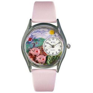 Pigs Watch Small Silver Style-Whimsical GiftsTop Notch Gift Shop