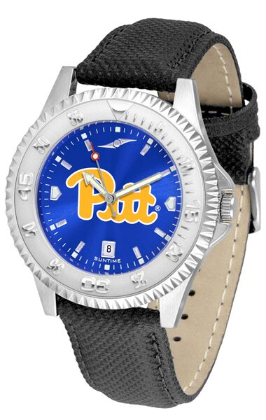 Pittsburgh Panthers Competitor AnoChrome - Poly/Leather Band Watch-Watch-Suntime-Top Notch Gift Shop