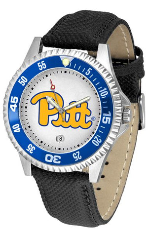 Pittsburgh Panthers Competitor - Poly/Leather Band Watch-Watch-Suntime-Top Notch Gift Shop