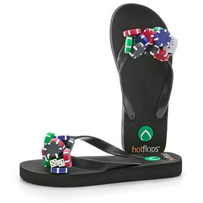 "Poker ""Coolflops"" Flip Flops-Sandals-Hot Flops-Top Notch Gift Shop"