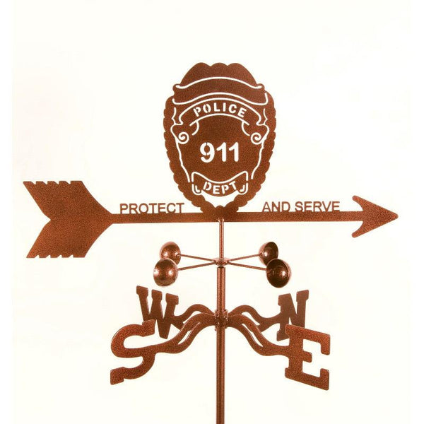 Police Badge Weathervane-Weathervane-EZ Vane-Top Notch Gift Shop