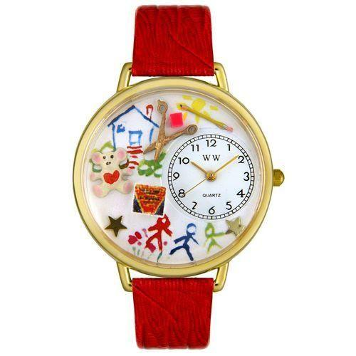 Preschool Teacher Watch in Gold (Large)-Watch-Whimsical Gifts-Top Notch Gift Shop