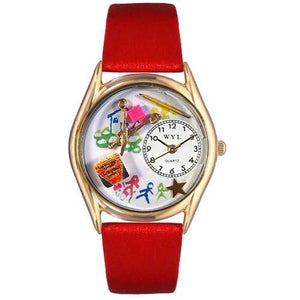 Preschool Teacher Watch Small Gold Style-Watch-Whimsical Gifts-Top Notch Gift Shop