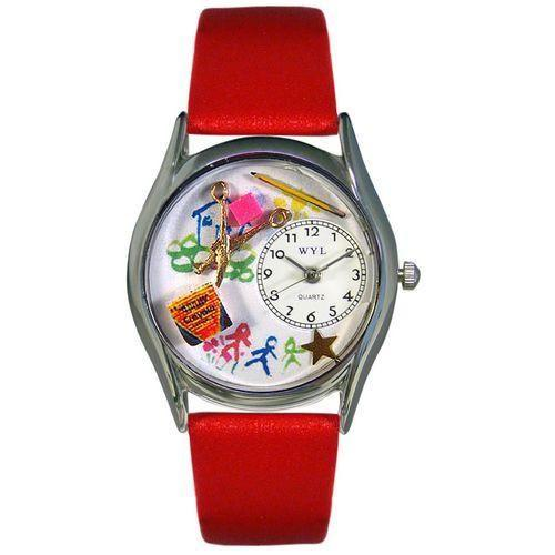 Preschool Teacher Watch Small Silver Style-Watch-Whimsical Gifts-Top Notch Gift Shop