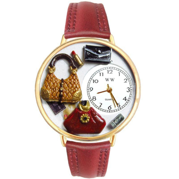 Purse Lover Watch in Gold (Large)-Watch-Whimsical Gifts-Top Notch Gift Shop